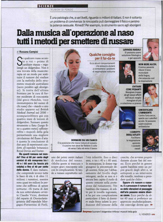 Dalla musica all'operazione al naso tutti i modi per smettere di russare - da Repubblica il Venerdì 1